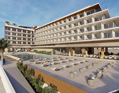 Hotel architecture design - Video rendering