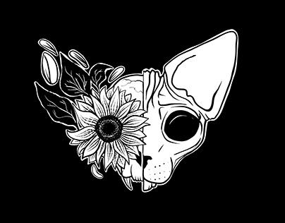 Sphynx Cats & Skulls