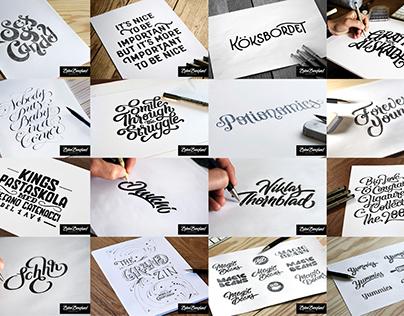 Lettering sketches 2015–2017 Volume I
