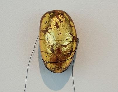 Gold leaf Rain rock