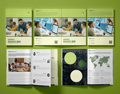 """Multiple Pages Corporate Brochure - """"FALCONFLY """""""