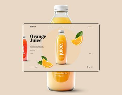 Concept design orange juice