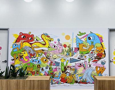 Glow Worm Pediatric Mural