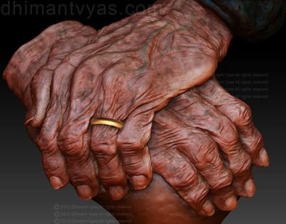 Old Hands (Z Brush Sculpture)