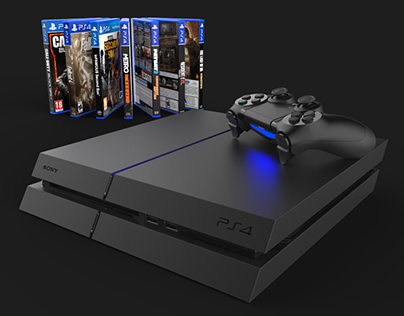 Sony PS4 | 3D Model and Rendering