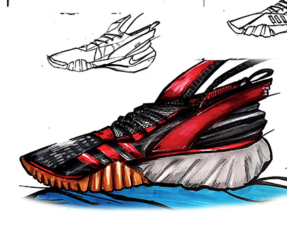 Manual Shoe Sketch Adidas Concept 1
