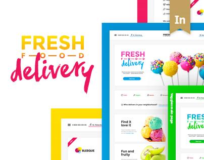 Fresh Food Delivery — Website Concept