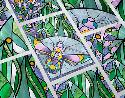 Gothic insect-Stained Glass/Ólomüveg