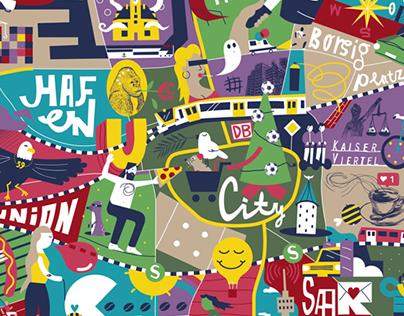 Illustration Stadtplan Dortmund