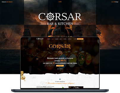 Website design for Corsar Bar
