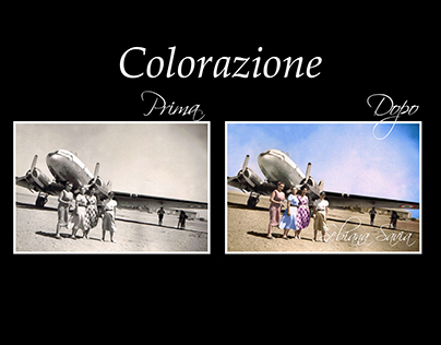 Restoring and colorizing old black&white Photography