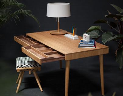 Naranjo Solid oak desk