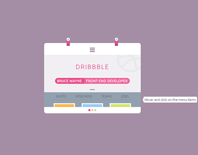 CodePen: Dribbble ID card