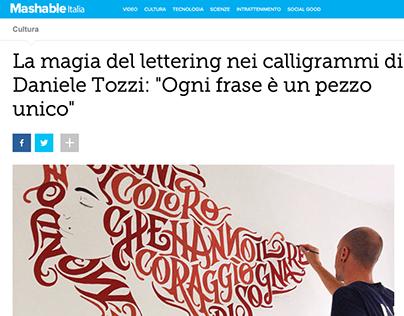 Video Interview on Mashable Italia