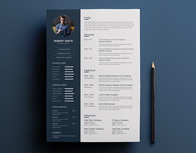 Clean CV/Resume Concept Design
