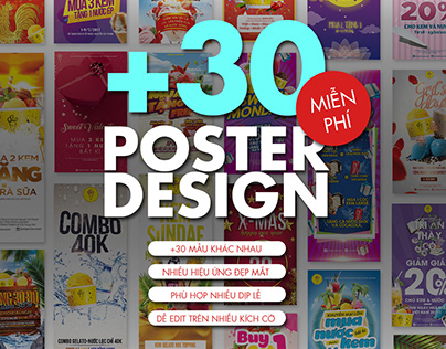 [FREE PSD] +30 POSTER DESIGN