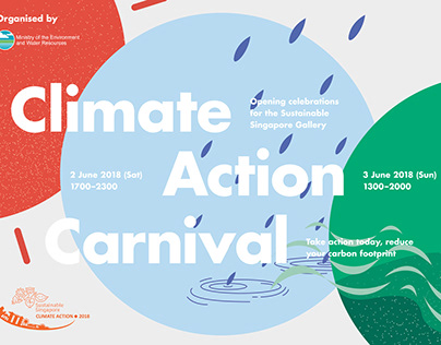 Climate Action Carnival promotional and event graphics
