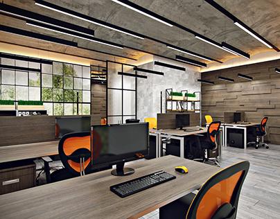 loft interior office design in saint petersburg