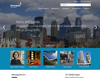 Minneapolis Website Redesign