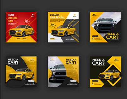 Rent Car Social Media Post Template