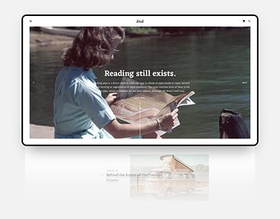 Zeal - Serif Blog | Book Reader