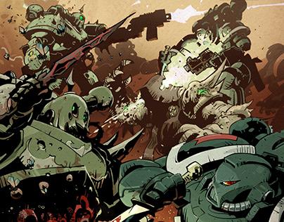 """Dark Angels VS Death Guard"" 40K Battle Report"