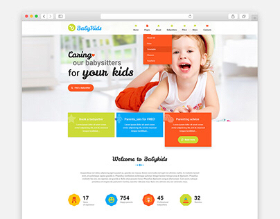 BabyKids Template for WordPress
