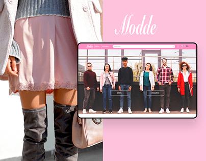 Modde Clothing Shop UI/UX Design