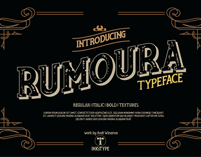 Rumoura Typeface Design