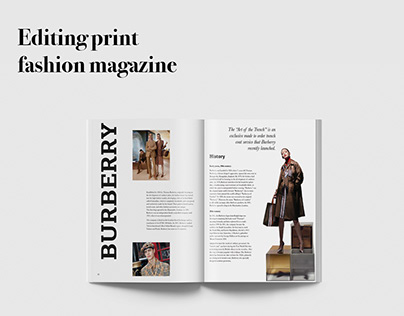 Editing print fashion magazine