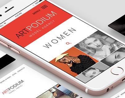 Art-podium model agency web site design