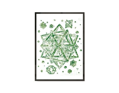 Releitura da obra Stars de M. C. Escher
