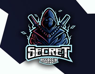Secret Assassin Ninja mascot esport logo project