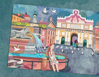 ROMAN MEMORIES postcard