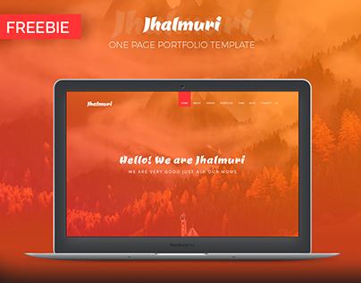 Jhalmuri - One Page Portfolio Template | FREEBIE