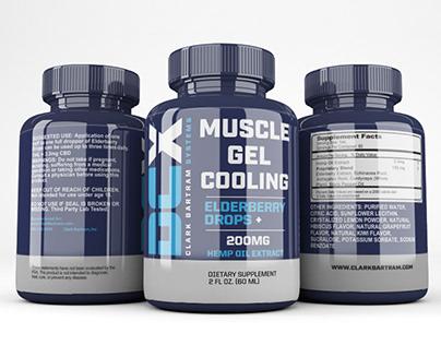 Supplement label design free mock-up