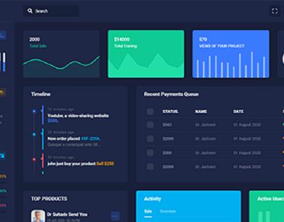 MotaAdmin dashboard template