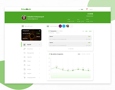 Privat bank redesign
