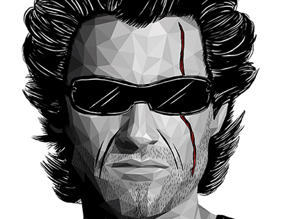 Kurt Russell - Vector and drawing tribute