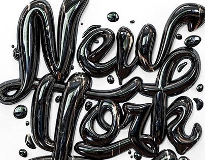 New York / CGI Typography