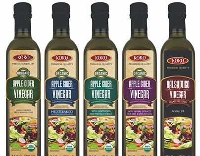 Vinegar bottle labels