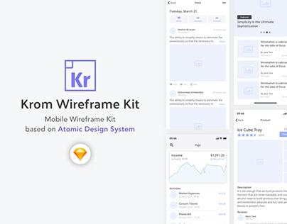 Krom Wireframe Kit - by UI Bears