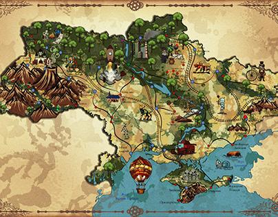 Vector map of Ukraine