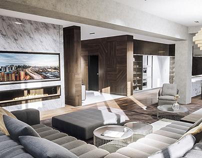 VR Visualization & Tour Penthouse Apartment Interior