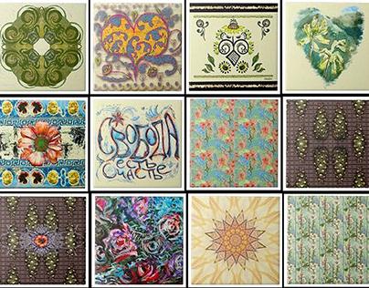 Folk Tiles for an Ecclectic Bohemian Home