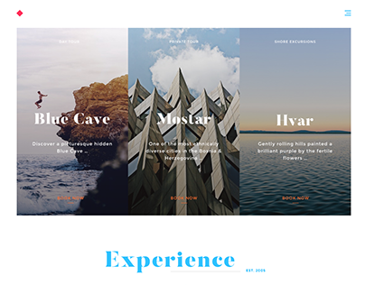 Modern template for a tourist agency