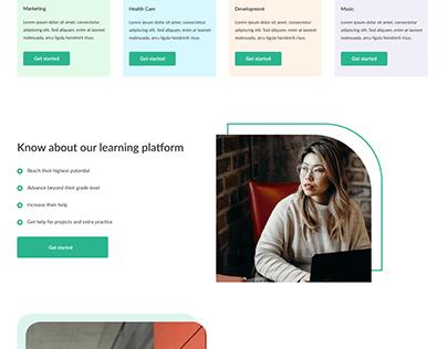 An E-learning website