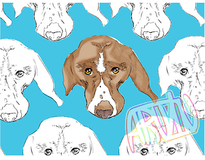 Chocolate Beagle Pattern - Mate Design