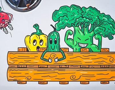 FARM DELIVERY VAN - ILLUSTRATION