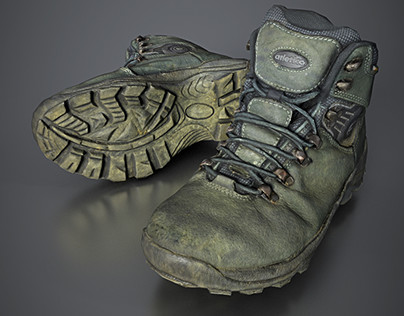 Trekking Shoes Game-ready Scan